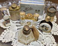 Vintage Miniature  Collectible Art Deco Perfume Bottles Hand Cut Irice Figural