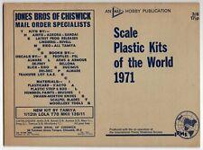 "Vintage UK Model Catalog: ""Scale Plastic Kits Of The World 1971"""