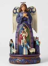 Heartwood Creek Nativity `O Come Let Us Adore Him NEW in Gift Box  27383
