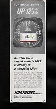 NORTHEAST AIRLINES 1965 UP 12% RATE OF CLIMB 1ST QT 1965 AD