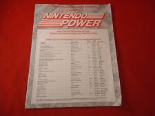 OFFICIAL Nintendo Power SNES NES Gameboy Game Pak Directory Book October 1994