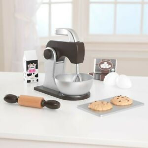 Kidkraft 63370 Kids Espresso Baking Mixer Cookie Set Pretend Play Kitchen Toy