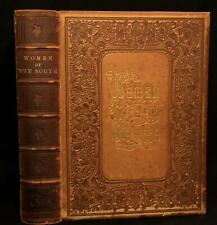 1861 Fine Morocco Leather Binding WOMEN OF THE SOUTH civil war ILLUS Confederate