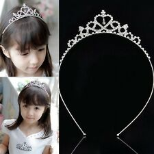 Girls Kids Bridal Bridemaid Princess Crystal Bling Hair Crown Head Band Tiara