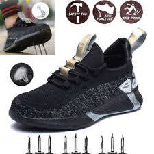 Men's Safety Work Shoes Non-Slip Breathable Sneakers Steel Toe Cap Boots