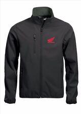 HONDA Quality Softshell Jacket Coat Black Embroidered Sizes S-5XL