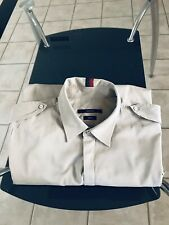 Gucci Men's Long Sleeve Shirt Size 44 Brown Skinny Fit Made In Italy