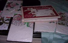 VINTAGE CHRISTMAS PAPER TABLECLOTHS+ NAPKINS MIXED LOT SANTA PRINT