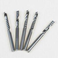 5pcs 3.175mm*17mm Single Flute Aluminium Cutting Milling Cutter CNC Router Bit
