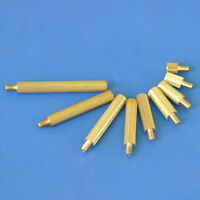 Threaded Metric M2 Brass Male-Female Standoff Spacer, Length 3mm~25mm.