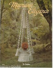 Macrame Elegance 1 Vintage Pattern Instruction Book Plant Hangers 1976 New