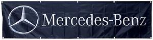Mercedes-Benz Flag racing 2x8ft black banner