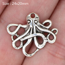 15/80Pcs Tibetan Silver Octopus Charms Pendants Fashion Jewelry Crafts 24*20mm