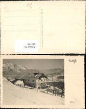 413738,Mutters Alpengasthof Nockhof Bergkulisse Winterbild