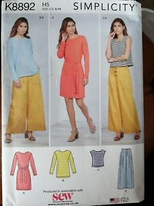Simplicity SEWING PATTERN 8892 size 6-14 ladies Tops dress trousers