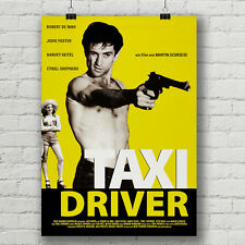 Taxi Driver, German movie poster canvas print Robert De Niro, Martin Scorsese
