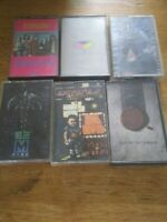 Lot of 6 Vintage Audio Cassette Tapes:, Various rock 70's 80's