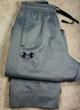UNDER ARMOUR COLDGEAR STORM-Med.Gray Poly, Mens Athletic Warm.Up Pants-(M)*