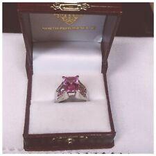 3.79Cts Pink Ice Emerald-Cut & Fancy Pink Princess-Cuts with Diamonds! 10K WG!