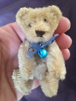 "RARE EARLY ANTIQUE Steiff 3.5"" MINIATURE MOHAIR Bear NO ID NICE MUST SEE"