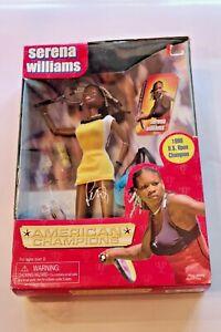 Serena Williams American Tennis Champion Doll Vintage 2001 Play Along Toys MIB