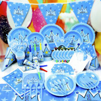 UK Popular Prince Theme Happy Birthday Baby Shower Party Decorations