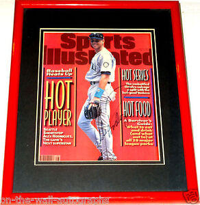 ALEX RODRIGUEZ HAND SIGNED AUTOGRAPHED FRAMED SPORTS ILLUSTRATED MAG W/PROOF+COA