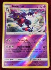 Toxicroak 55/147 Rare REVERSE HOLO Pokemon Card Sun & Moon Burning Shadows