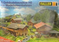 Faller 5 Gebäudebausätze HO 1:87 für Modelleisenbahnen Set: Sommer in den Bergen