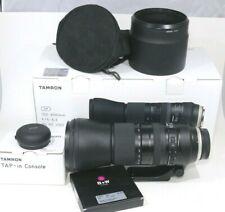 Tamron 150-600mm F/5-6.3 G2 Super Zoom Lens Canon w/ Tap In Console B+W UV & Box