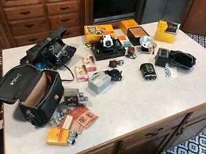 Vintage Camera Lot Polaroid, Meikai, Brownie, Revere 8mm