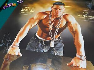John Cena Autographed Judgment Day 2005 poster WWE