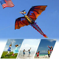 Fun Children's Outdoor Fun Upgrade Classic Dragon Single Line Kite With Tail Toy