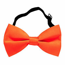 New KID'S BOY'S 100% Polyester Pre-tied Bow tie only Orange formal wedding