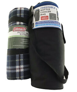 Coleman Picnic Blanket And Freezable Bottle Bag