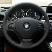 1 set Black Leather Wrap Steering Wheel Cover Stitch on For BMW 320li 2013