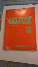 Used Genuine Yamaha YGS1 YGS1T Parts List Manual First Edition 1967
