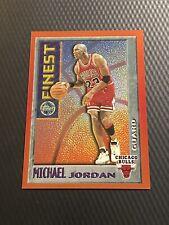 1995-96 Topps Mystery Finest Michael Jordan Card #M1 Orange Border Bulls MJ