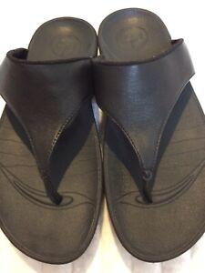 Fitflop black sandals size EU38 / UK5 / genuine leather
