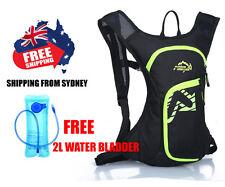 Hydration Water Bag Rucksack Cycling Hiking Camping Pack Backpack 2L Bladder