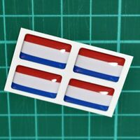 4x Netherlands Flag Domed Stickers - High Gloss Raised Gel Finish