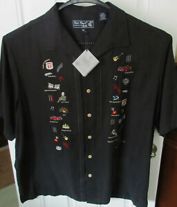 "RARE NWT NAT NAST LUXURY ORIGINAL LTD ED  "" WALKIN' IN MEMPHIS "" XXL 100% SILK"