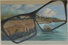 Acrylic Painting of San Diego, Sunset Cliffs Canvas print giclee