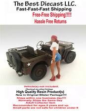 Lady Mechanic Katie American Diorama 1:24  Resin Figure  40s 50s 1940s 1950s