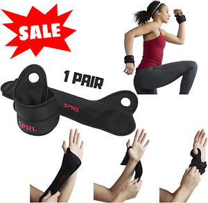 Wrist Weights 4 Lb Weighted Workout Gloves Set Strength Training Thum Black