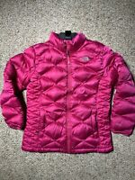 Girls THE NORTH FACE Pink Magenta 550 Fill Goose Down Puffer Jacket Sz XL 18