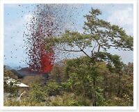 Kilauea Volcano Halema'uma'u Lava Lake Overflow 2018 Silver Halide Photo