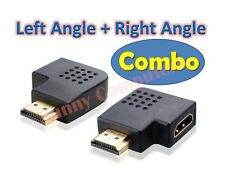 Brand New HDMI 90° Left Right Rotate Angle Combo M/F Joiner Adapter Connector AU