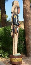 6' Cigar Store Indian BLUE COAT CALVARY SERGEANT 6 ft Wood by Frank Gallagher
