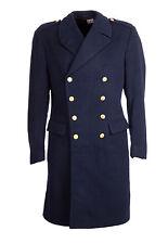 "Abrigo de Lana Gabardina Gran Nordic Vintage Doble Abotonadura militar 38-40"" Azul Marino"